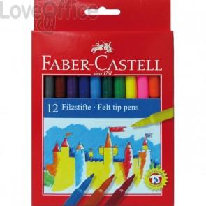 Pennarelli FIESTA STANDARD Faber Castell - 0,7 mm - 6+ (conf.12)
