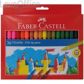 Pennarelli FIESTA STANDARD Faber Castell - 0,7 mm - 6+ (conf.36)