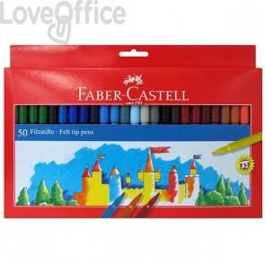Pennarelli FIESTA STANDARD Faber Castell - 0,7 mm - 6+ (conf.50)