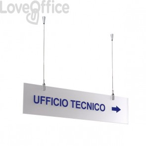 Targa sospesa Tecnostyl - 60x15 cm - bisatinato - TS6015