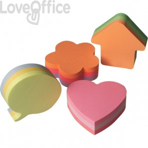 Post-it® Cubi sagomati a forma di cuore