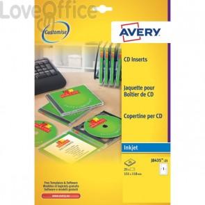 Copertine per custodie CD Avery per stampanti Inkjet - bianco - 1 et/ff - J8435-25 (conf.25)