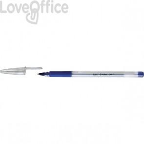 Penne a sfera Cristal Grip Bic - nero - 1 mm - cappuccio (conf.20)