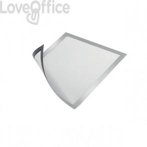 Cornice magnetica Durable - A4 - 25x0,45x32,5 cm - porta avvisi - argento metallizzato - 4869-23 (conf.5)