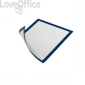 Cornice magnetica Durable - A4 - 25x0,45x32,5 cm - porta avvisi - blu - 4869-07 (conf.5)