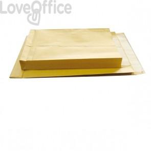Buste a sacco avana Pigna - soffietti su 3 lati - 23+4x33 cm - 120 g/mq - 0208887 (conf.250)