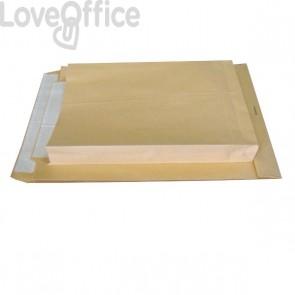 Buste a sacco avana Pigna - soffietti su 3 lati - 25+4x35 cm - 120 g/mq - 0208886 (conf.250)