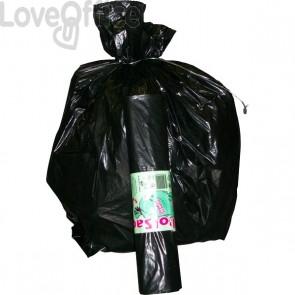 Sacchi per immondizia Cagliplast - 140 l - 0,05 my - nero - 20705 (conf.200)