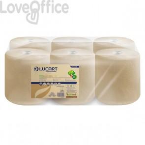 Asciugamani Eco Natural Lucart - rotolo - H 21xØ 20 cm - 450 - 2 - 852226 (conf.6)