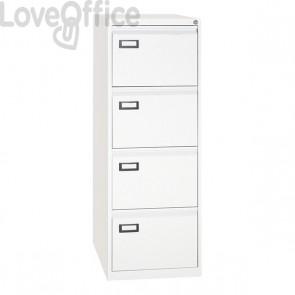 Classificatore Kubo - bianco - 4 cassetti - 46x62x132 cm - 4304 bianco