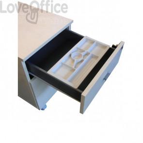 Separatore cassetto porta cancelleria per Cassettiera Londra Linekit - 35x16,5x2,5 cm