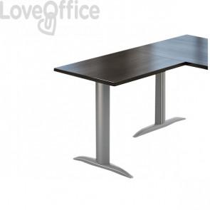 """Allungo per scrivania Ufficio Parigi - fianco a """"T"""" - Wengè - 80x60x72 cm"""