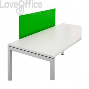 Schermo frontale per scrivania Linekit - Verde - 120x2,8x47,7 cm