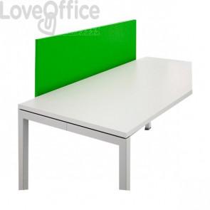 Schermo frontale per scrivania Linekit - Verde - 140x2,8x47,7 cm