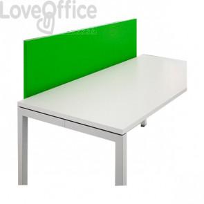 Schermo frontale per scrivania Linekit - Verde - 160x2,8x47,7 cm