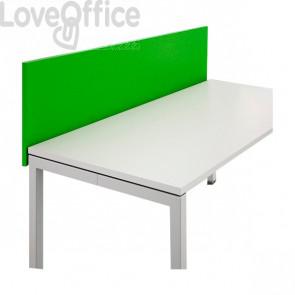 Schermo frontale per scrivania linea Londra - Verde - 180 cm