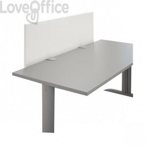 Schermo frontale per scrivania Linekit  - Bianco - 140x2,8x47,7 cm
