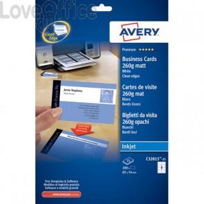 Biglietti visita Quick&Clean™Avery -Inkjet-fronte-retro-bianco patinato-260g/mq-C32015-25 (conf.200)