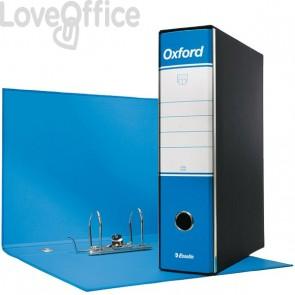 Esselte Raccoglitori Oxford - registratore commerciale - 8 cm - 23x30 cm - azzurro (conf.6)