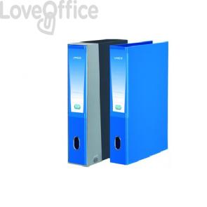 Registratore legale con custodia Unico Elba - Dorso 5 cm - azzurro