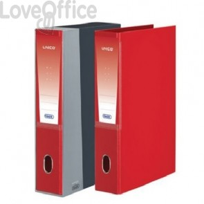 Registratori Con Custodia Unico Favorit - Commerciale - 5 cm - 23x30 cm - Rosso