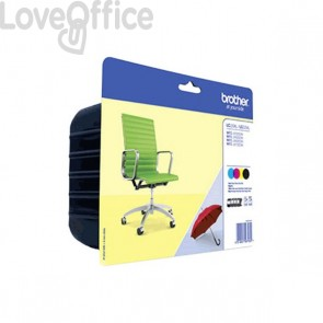 Originale Brother LC-229XLVALBP Conf. 4 cartucce inkjet LC-229XLBK + LC-225XL CYM  4