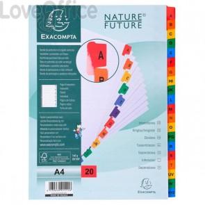 Divisori in cartoncino A4 con tasti stampati Nature Future Exacompta - A4 - A-Z - 20 tasti