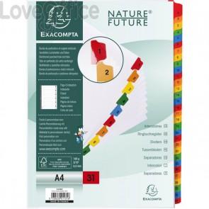 Divisori in cartoncino numerici A4 con tasti stampati Nature Future Exacompta - A4 - 1-31