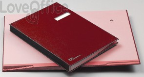 Libro firma 18 intercalari Fraschini - rosso - 618-D