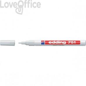 Pennarello Indelebile a vernice Edding 751 - bianco - tonda - 1-2 mm