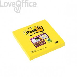 Post-it® Super Sticky - 76x76 mm - giallo canary - neutra - 90 - 654-S