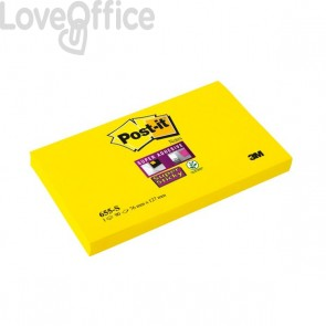 Post-it® Super Sticky - 76x127 mm - giallo canary - neutra - 90 - 655-S