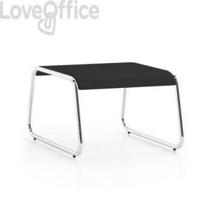 tavolino nero basso per sala d'attesa