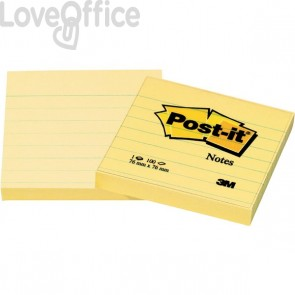 Post-it® Notes Giallo Canary a righe - giallo canary - 76x76 mm - righe - 630-6PK (conf.6)