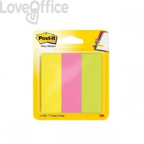 Segnapagina Post-it® Notes Markers - 25x76 mm - giallo, rosa, verde - 671-3 (conf.3)