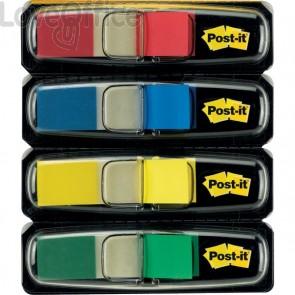 Segnapagina Post-it® Index Mini 683 - blu, giallo, rosso, verde - 683-4 (conf.4)
