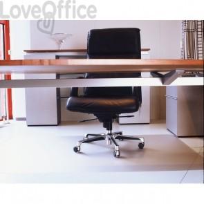 Salvapavimento in vinile Floortex - Per pavimenti - Trasparente - 120x150 cm - FC1215225EV