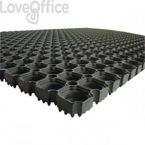 Tappetino Octo Floortex - nero - 100x150 cm - FC4101522OCBK