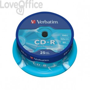 CD Verbatim - CD-R - 700 Mb - 52x - Extra Protection - Spindle - 43432 (conf.25)