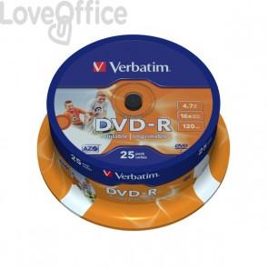 DVD Verbatim - DVD-R - 4,7 Gb - 16x - Printable - Spindle - 43538 (conf.25)