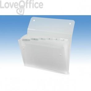 Archiviatore a soffietto Ice Rexel - 6 scomparti - trasparente