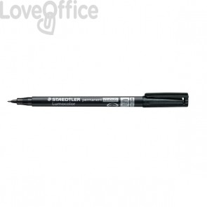 Staedtler Lumocolor Permanent - pennarello indelebile nero punta fine - CD/DVD - superfine - 0,4 mm