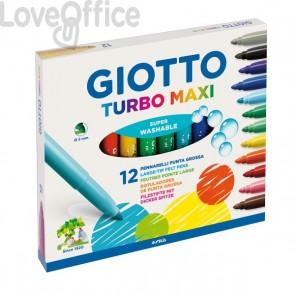 Pennarelli Turbo Giotto - Turbo Maxi punta larga - 1-3 mm - da 3 anni in poi (conf.12)
