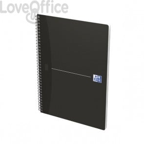 Quaderno con spirale a quadretti 5 mm Office Oxford - A4 - Nero
