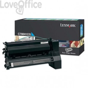 Originale Lexmark C780H1CG Toner alta resa return program ciano