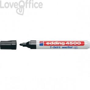 Pennarello per tessuti nero - Edding 4500 - tonda - 2-3 mm