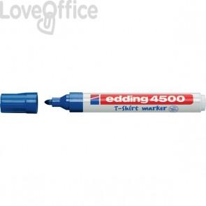 Pennarello per tessuti blu - Edding 4500 - tonda - 2-3 mm - 4500 003