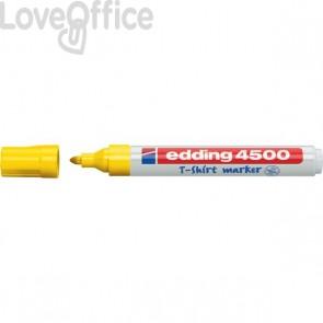Pennarello per tessuti giallo - Edding 4500 - tonda - 2-3 mm