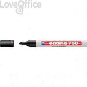 Pennarello a vernice nero - Edding 750 - tonda - 2-4 mm