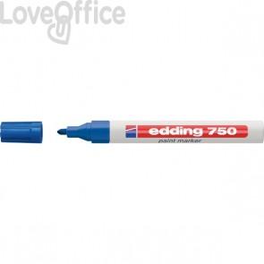 Pennarello Indelebile a vernice Edding 750 - blu - tonda - 2-4 mm
